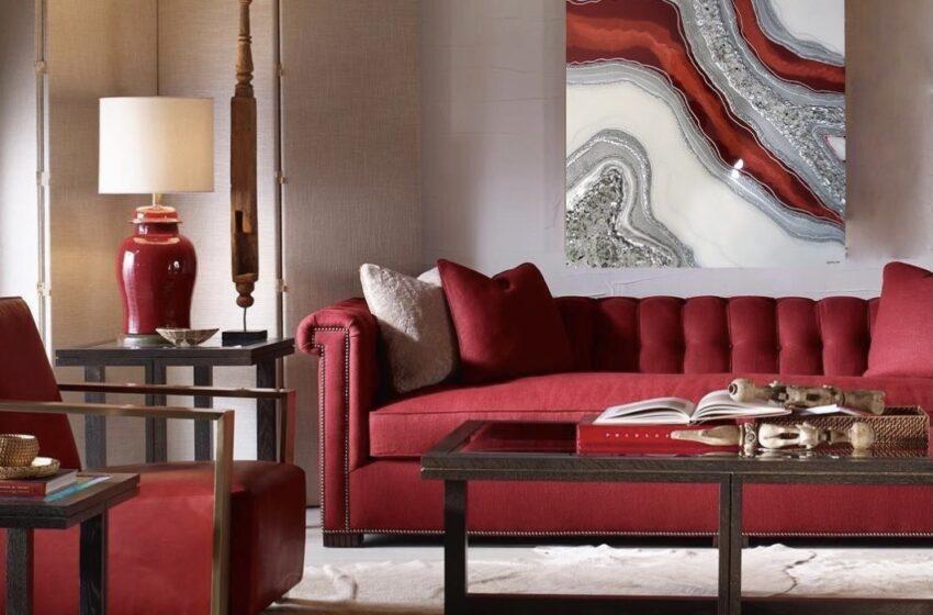 ٢٠ مدل دکوراسیون داخلی منزل به رنگ قرمز