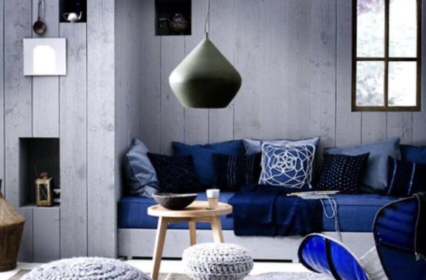 ٣٠ مدل دکوراسیون داخلی منزل به رنگ سورمه ای