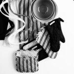 ١۶ مدل سرویس آشپزخانه پارچه ای به رنگ مشکی